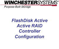 How to video for FlashDisk RAID Disk Array showing the setup of active-active RAID controllers using the FlashDisk Global Manager's easy to use GUI.