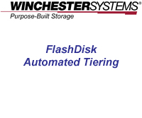 How to video showing the creation of multi-level tiered storage in FlashDisk RAID Disk Arrays using a variety of HDDs and SSDs for maximum price/performance value.