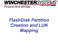 How to video showing the real simple nuts and bolts of setting up and mapping logical units of data storage on FlashDisk RAID Disk Arrays in the real world.