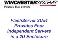 Video shows how the FlashServer 2Ux4 cuts cost, reduces rack space and saves power.  It is an ideal product for server consolidation, for high density, general purpose server environments and for deploying converged infrastructure or hyper-converged solutions.